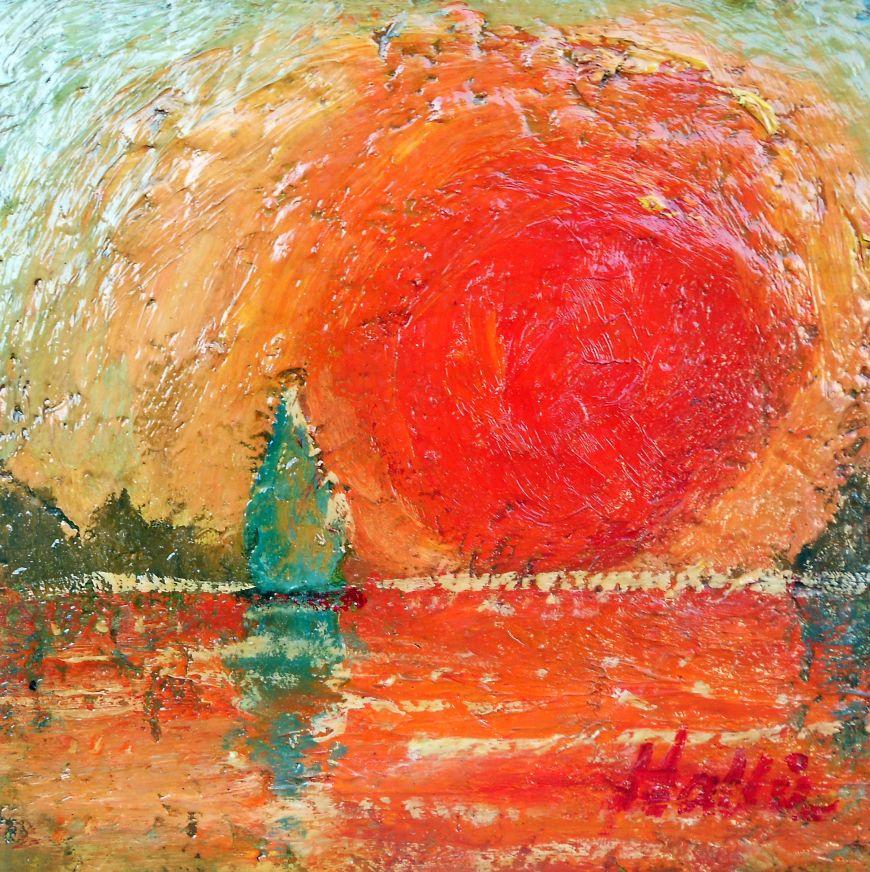 Bright Red Sun