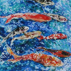 14 Koi (Blue Series)