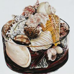 Glass Container of Shells