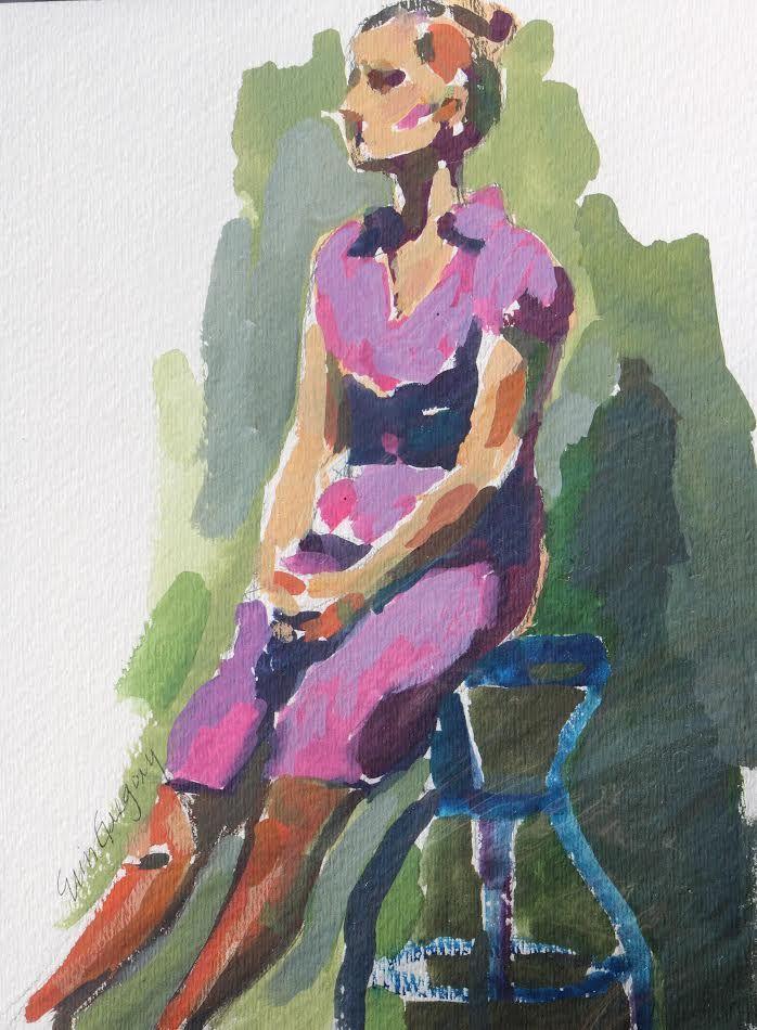 Figure in Purple