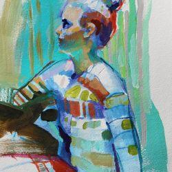 Figure in Stripes