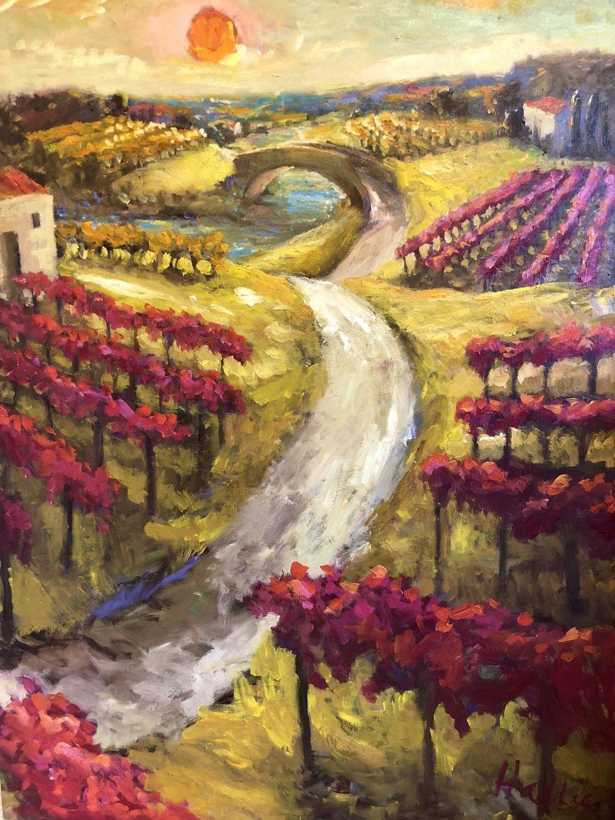 Vineyard with Bridge