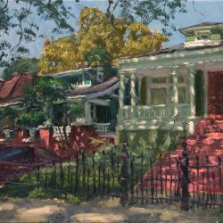 Dappled Sunlight, Houses on Carrollton