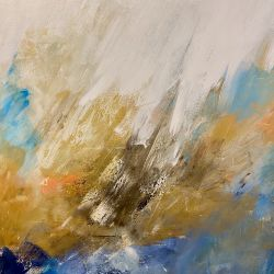 Abstract with Pop of Orange II