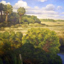 Marsh and Palms
