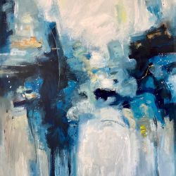 Abstract with Blue I