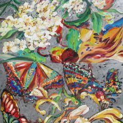 Quadrant: Papillon et Fleurs