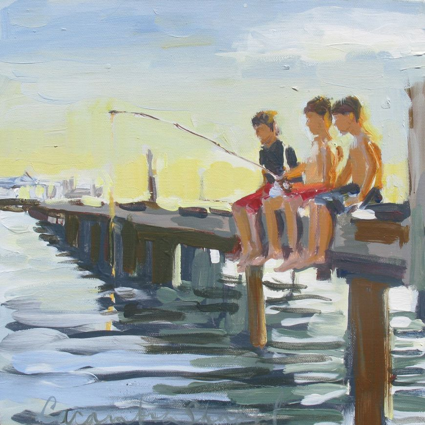 Fishing Off The Dock Stellers Gallery